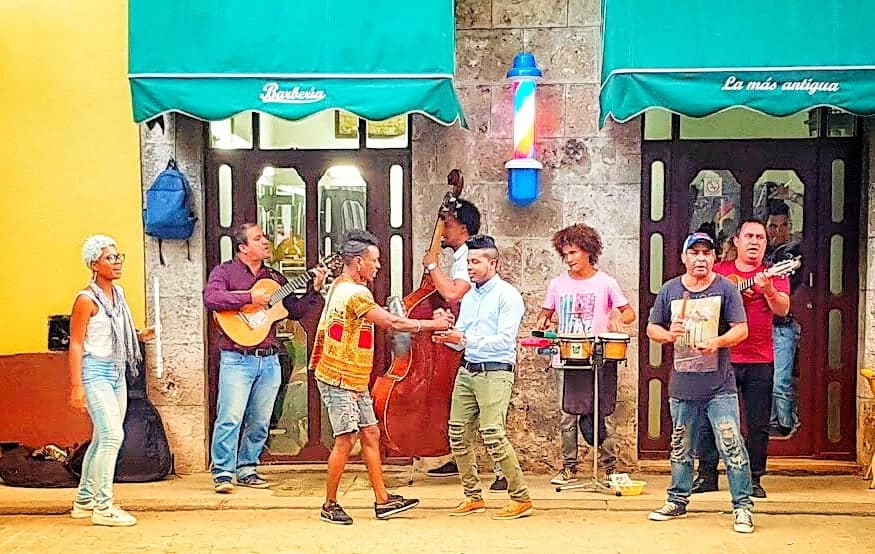Live music and band in havana Vieja, Cuba