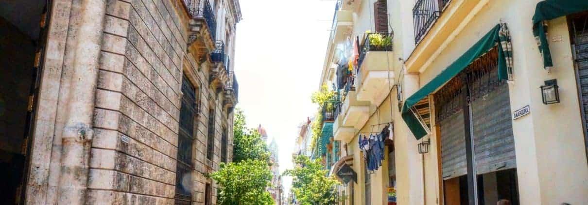 cuban tourism in havana cuba vieja neighborhood