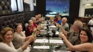 групповой ужин на Гаване Куба