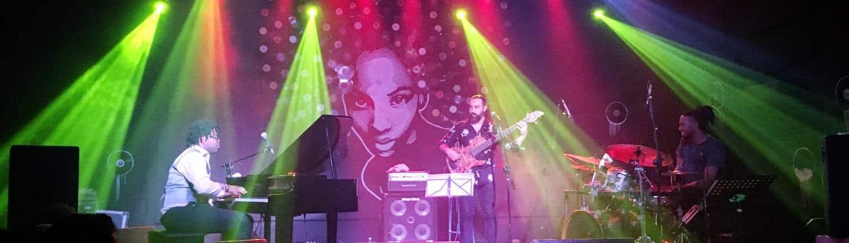 alain perez and rodney barreto performing at FAC during havana jazz plaza