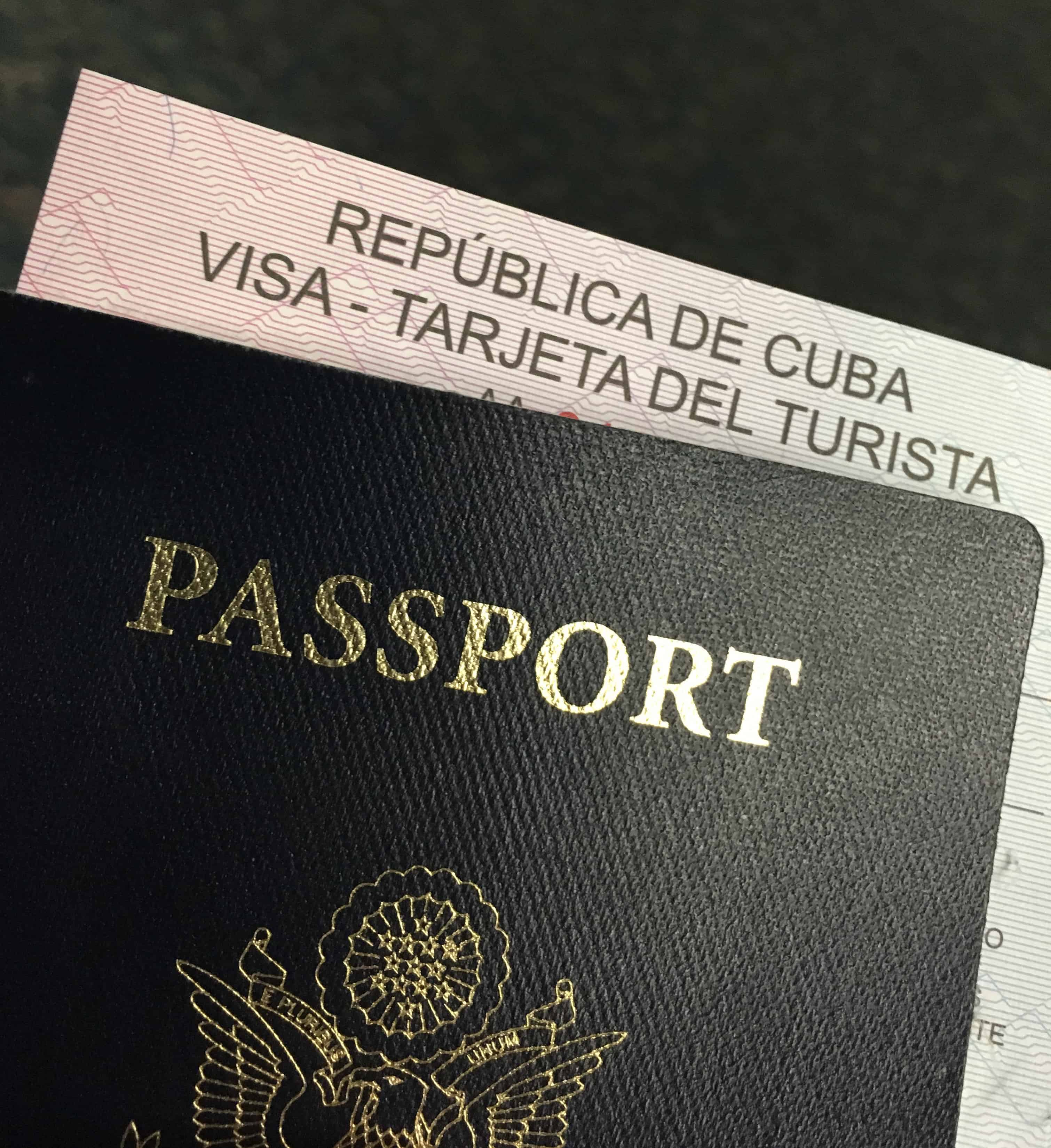 passport and visa to go to cuba, OFAC license