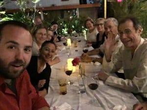 group picture eating at el cocinero in havana cuba