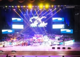 vista de palco da fiesta de tambor