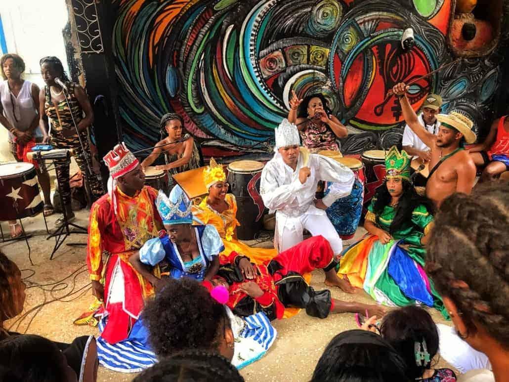 rumba at callejon de hamel in havana