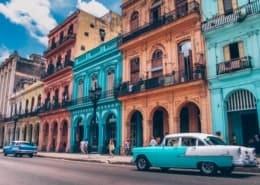 هافانا القديمة والسيارات الكلاسيكية