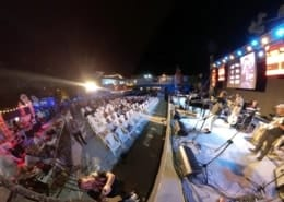 live stage outdoor show at havana jazz festival casa de la cultura