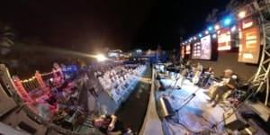 live stage outdoor show at havana jazz festival casa de la cultura
